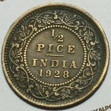 BRITISH INDIA - 1/2 PICE - ANCIENT COIN GEORGE V KING EMPEROR HIGH QUALITY
