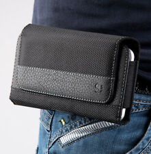 for iPhone 8 - HORIZONTAL Cloth Leather Pouch Holder Belt Clip Loop Holster Case