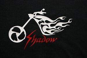 "Honda Shadow ""TATTOO"" Design Tee Shirt Long or Short Sleeve...BLACK"