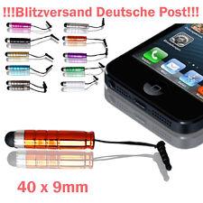 2x Mini Touch Pen Touchpen Stift Eingabestift Staubschutz Schutz ORANGE