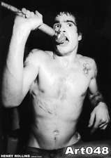 "Henry Rollins Black Flag live #2 POSTER 34""x24"" b/w"