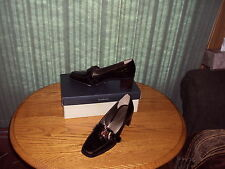 Comfortable,  heels Leather Patent  Shoes by Liz Claiborne. Size 7 1/2 M.