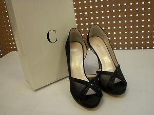 Caparros New Womens Xen Black Satin 8 M Open Toe Heels Shoes