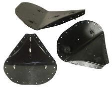 """Upholstery Ready 13 Gauge Black SOLO SEAT Pan-14"""" Long x 13"""" Wide w/Welded Studs"""