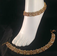Gold Anklet/Payal,Stunning Fashion jewellery,Bollywood style,SV23-503