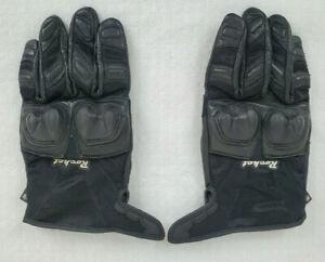 Rocket Black Large Moto GPX Style Street Leather Motorcycle Gloves