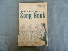 Vietnam War Military Issue Army, Air Force Song Book