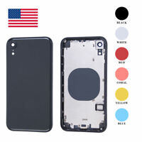 Back Glass Housing Battery Cover Frame Assembly Replacement For iPhone XR OEM US