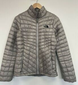 The North Face Puffer Ladies Thermoball Size Small Grey Lightweight Jacket Coat
