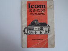 ICOM ICB-1050 (solo originale manuale di istruzioni)... RADIO _ Trader _ Irlanda.