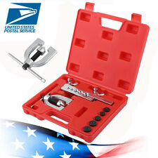 Double Flaring Brake Line Tool Kit Tubing Car Truck W/ Adapter Automotive Tool M