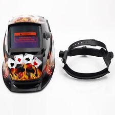 New Safety Auto-Darkening Pro Solar Powered Mask Welding Helmet Gamblers Black