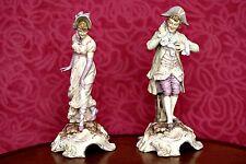 A Pair of Rare Antique 'Von Schierholz of Plaue' Figurines, Thuringia, Germany