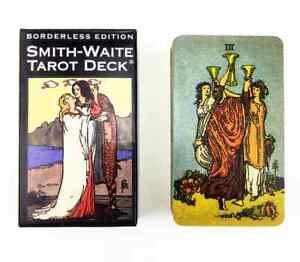 Smith-Waite Borderless Edition Tarot Card Deck – NEW – 84 Cards Rider-Waite Deck