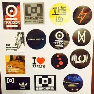 30 x Berlin Ibiza Club Aufkleber Stickers  Berghain Watergate Tresor Time Warp