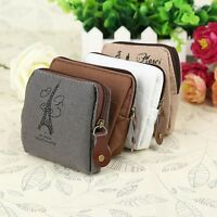 New Retro Classic Women Canvas Purse Zip Wallet Small Coin Bag Case Pouch Holder