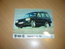 PHOTO DE PRESSE ( PRESS PHOTO ) Land Rover discovery TDi de 1997  R0019