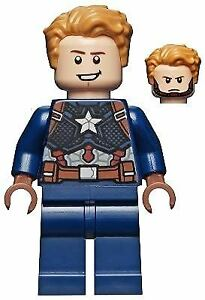 LEGO Marvel Super Heroes Captain America Detailed Suit Minifigure from 76192