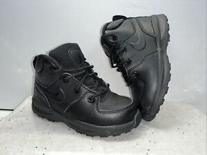 Nike ACG Manoa Black Leather Boots Toddler Size 9C - All Condition Gear Sneakers