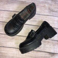 """Vintage Mudd Chunky 90's Punk Goth Platform Loafer Shoes """"welsh� 7.5"""