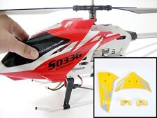 NEW YELLOW TAIL DECORATION FINS SYMA S033  S033G RC HELICOPTER