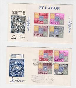 ecuador 1945 Sc 744/7+747a MNH + FDC,,   r1121