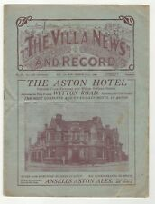 More details for pre war aston villa v sunderland 1928-29 div 1 march 25th 1929 double programme