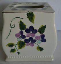 Waverly Garden Room Sweet Violets Ceramic Tissue Box Cover