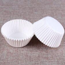 New 100Pcs White Cake Paper Cups Cakes Dessert Making Kitchen Baking Supplies