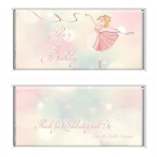 Ballerina Personalised Chocolate Wrapper Gloss 4x6 to suit Aldi Bars