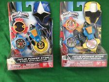 Power Rangers Ninja Steel Power Star 2 Pack Series 4 + 5 Bundle Brand New Toy TV