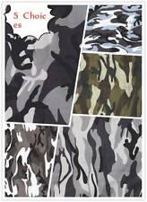 1 Yard Fashionable Army Camo Camouflage Print Cotton Material Fabrics Poplin