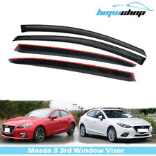for Mazda 3 3rd Sedan Hatchback 2014-2019 Window Visor Sun Rain Guards Deflector