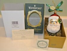 Nwt Waterford Heirloom Xmas Glass Ornament Santa's Portrait #103587 Limited Ed.