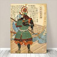 "Vintage Japanese SAMURAI Warrior Art CANVAS PRINT 36x24""~ Kuniyoshi  #280"