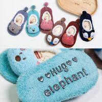 Newborn Baby Kids Anti Slip Shoes Cartoon Slipper Floor Socks Boots Winter Warm