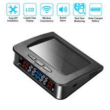 Wireless Solar TPMS Car Tire Pressure LCD Monitor Alarm System 4 External Sensor