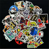 50pcs Skateboard Vinyl Sticker Skate Laptop Luggage Car Bomb Decal Cartoon