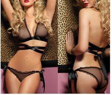 Sexy Femme Lingerie Mousseline Badydoll Sleepwear Sous-Vêtement Pyjama Dentelle