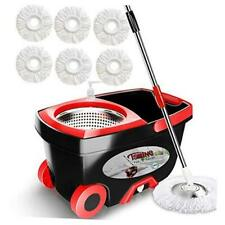 Spin Mop Bucket Floor Cleaning - Mop and Bucket with Wringer Set Commercial