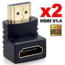 Utility HDMI Male to HDMI Female 90 Degree Right Angle Adapter Plated Converter