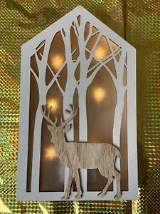 Light Up Christmas Wall Hanging Decoration Reindeer