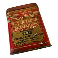 Antique Tin Peter Pauls Cream Mints Candy Fairies Advertising