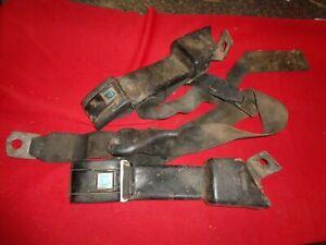 1971,1969,1970,1972  chevrolet gmc seat belts black pair front seats k5 k10
