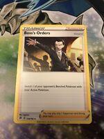 Pokemon TCG Rebel Clash x4 Boss's Orders Trainer Non-Holo Rare 154/192 Mint/NM