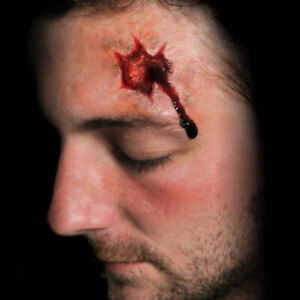 Tinsley Shot and Stab Wound Trauma Prosthetic Special FX Makeup Temp Tattoos
