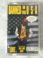 Vintage 1990 Luke ft. The 2 Live Crew - Banned In The USA Cassette Tape hip hop