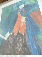 "Barbara A. Wood Artist Proof large Lithograph ""Pensative Woman"" signed in pencil"