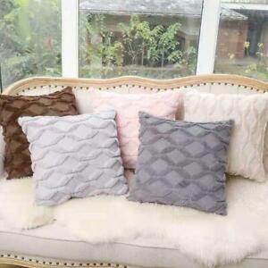 "UK 18"" Luxury Fluffy Plush Soft Cushion Cover Geometric Pillow Cases Home Decor"