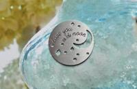 Origami Owl 💋 classic large living locket window plate LOVE YOU TO MOON & BACK